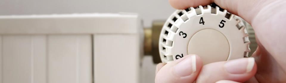 radiator met draaiknop